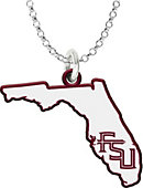 Florida State University State Shaped Necklace