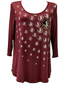 Florida State University Women's 3/4 Sleeve Shirt