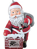 Franklin Pierce University 3 in. Rooftop Santa Ornament