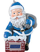 Worcester State University 3 in. Rooftop Santa Ornament