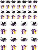 Prairie View A & M University Panthers 50-Count Sticker Sheet - 2-Sheets