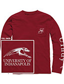 University of Indianapolis Vintage Washed Long Sleeve Pocket T-Shirt
