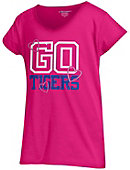 Tennessee State University Girls' V-Neck Powder Puff T-Shirt