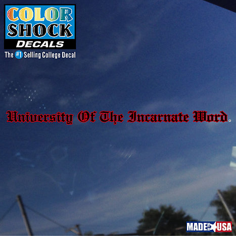 Product: University of the Incarnate Word Strip Decal