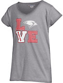 University of the Incarnate Word Cardinals Girls' Powder Puff Love T-Shirt