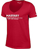 Massachusetts College of Art Women's V-Neck T-Shirt