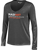 Massachusetts College of Art Women's Long Sleeve V-Neck T-Shirt