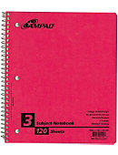 NOTEBOOK 3 SUBJECT 11X8 120 SH 6 PKT