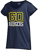 Regis University Girls' V-Neck Powder Puff T-Shirt