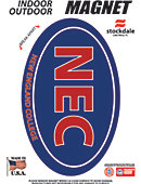 New England College 3.5''x5.5'' Oval Magnet