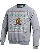 Molloy College Lions Ugly Christmas Sweater Powerblend Crewneck Sweatshirt