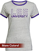 Lee University Women's Athletic Fit Ringer Short Sleeve T-Shirt