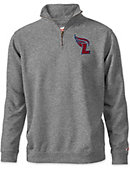 Lee University Flames Tri-Blend 1/4 Zip Fleece Pullover