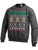 Trine University Thunder Ugly Christmas Sweater Powerblend Crewneck Sweatshirt