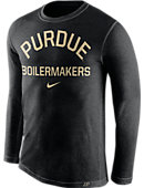 Nike Purdue University Tri-Blend Crewneck Long Sleeve T-Shirt