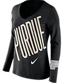 Purdue University Women's Athletic Fit Mid-V Long Sleeve T-Shirt