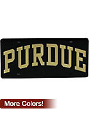 License Plate with Arched Purdue