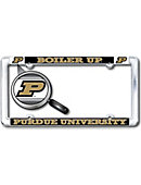 Purdue University 'Boiler Up' Thin Dome License Plate Frame