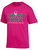 Lakeland College Muskies Breast Cancer Awareness Ribbon T-Shirt
