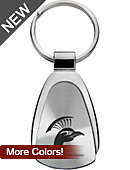 Upper Iowa University Peacocks Teardrop Keychain