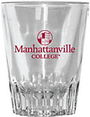 Manhattanville College 2 oz. Fluted Collector's Glass