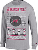 Manhattanville College Ugly Sweater Long Sleeve T-Shirt