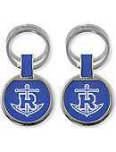 Rollins College Tars Double Ring Keychain