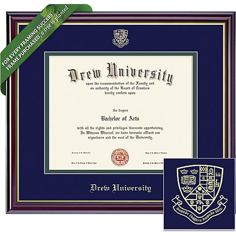 Product: Drew University 8'' x 10'' Windsor Diploma Frame