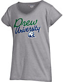 Drew University Girls' V-Neck Short Sleeve T-Shirt