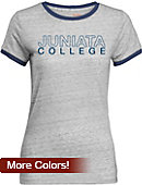 Juniata College Women's Athletic Fit Ringer Short Sleeve T-Shirt