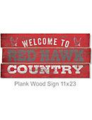 Montclair State University Red Hawks 22''x11'' Wood Sign
