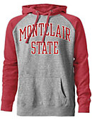 Montclair State University Tri-Blend Color Block Hooded Sweatshirt