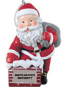 Montclair State University 3 in. Rooftop Santa Ornament