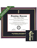 California University of Pennsylvania 8.5'' x 11'' Windsor Diploma Frame