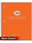 Carroll University Pioneers 100 Sheet Notebook