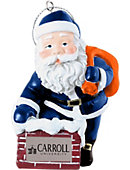 Carroll University 3 in. Rooftop Santa Ornament