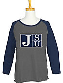 Jackson State University Women's 3/4 Sleeve Raglan T-Shirt