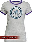 Jackson State University Women's Athletic Fit Ringer Short Sleeve T-Shirt