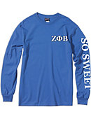 Jackson State University Zeta Phi Beta Long Sleeve T-Shirt