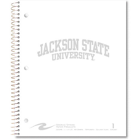Product: Jackson State University 80 Sheet One-Subject Notebook