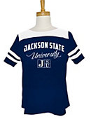 Jackson State University Women's Striped T-Shirt