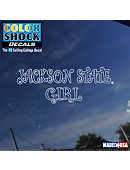 Jackson State University Girl Decal