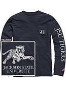 Jackson State University Vintage Washed Long Sleeve Pocket T-Shirt