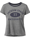 Jackson State University Women's Cropped Short Sleeve T-Shirt