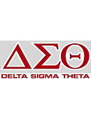 Delta Sigma Theta Decal