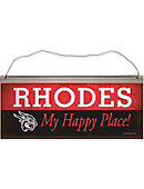 Rhodes College Happy Place Vintage Tin Sign