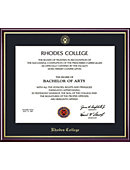 Rhodes College 11'' x 14'' Value Price Scholastic Diploma Frame
