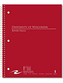 University of Wisconsin - River Falls 100 Sheet Notebook
