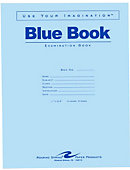 Blue Book 11x8.5' 4 Sheet/8 Page