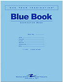 Blue Book 11x8.5' 8 Sheet/16 Page